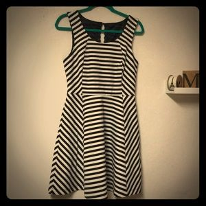 Express Black & White Striped, sleeveless dress